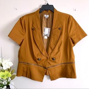 Worthington Mustard Blazer / Jacket - Size XL NWT